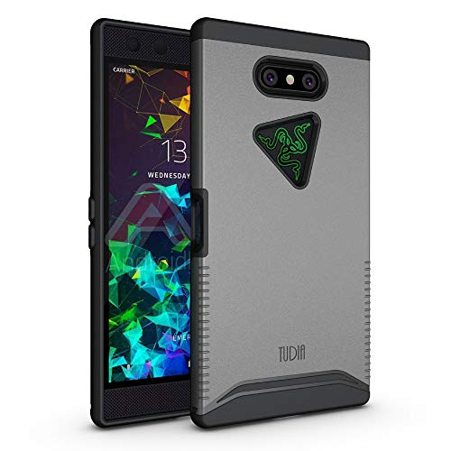 Razer Phone 2 Case, TUDIA [Merge Series] Dual Layer Heavy Duty Extreme Drop Protection/Rugged Phone Case for Razer Phone 2 [2018] (Metallic Slate)