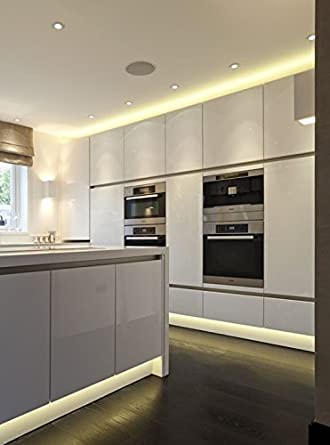 online-leds 5 m batteriebetrieben warm weiß LED Strip Leuchten Küche ...