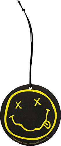 Nirvana Band Smiley Face Coconut Scent Auto Office Air Freshener