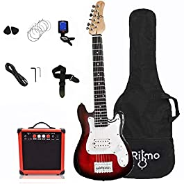 Kids 30 Inch Electric Guitar and Amp Complete Bundle Kit for Beginners-Starter Set Includes 6 String Guitar, 20W…