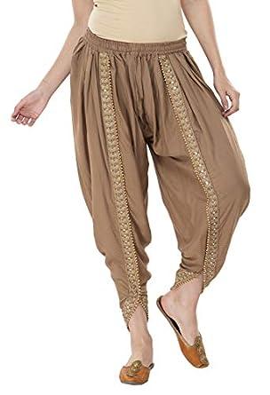 Lyos Women's Rayon Solid Dhoti Free Size