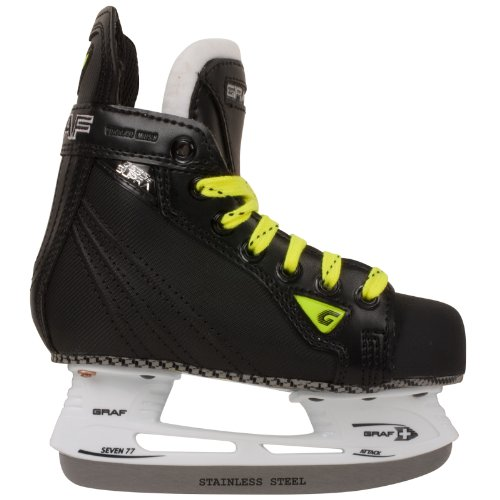 Graf Hockey Gear - Graf Supra 535 Yth. Ice Hockey Skates Size 12c Black/silver
