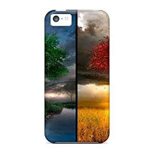 New UbeUwIN5612NhBCQ Lscapes Winter Trees Autumn Summer Spring Rainbows Tpu Cover Case For Iphone 5c