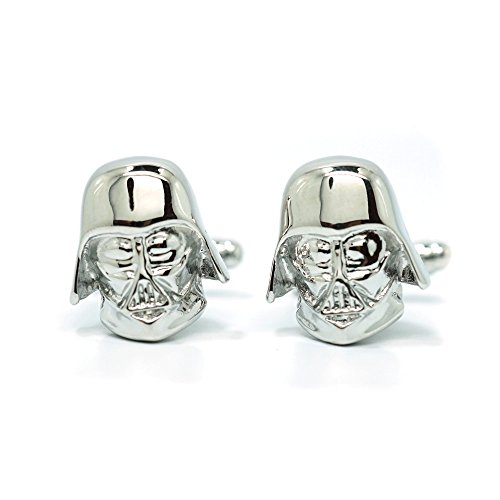 Teri's Boutique Men's Jewelry Star Wars Darth Vader Head Silver Tone Cufflinks Pair w/ Gift Box (Cufflinks Tone Mens)