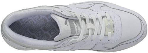 R698 silver white Adulte Sneakers Puma Speckle Blanc Mixte Basses Z4qng6U