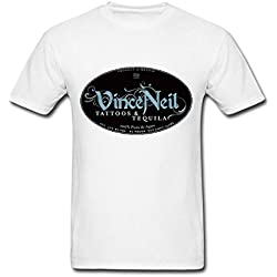 WBG DIY Mens Vince Neil tour T-Shirt White XXXL