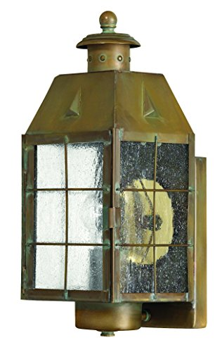 (Hinkley 2370AS Restoration One Light Wall Mount from Nantucket collection in Brassfinish,)