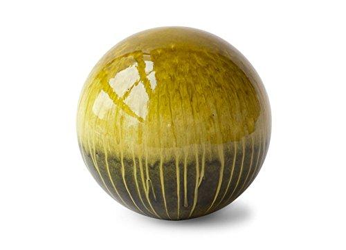 Hosley Bolla Ball 6 Inch Diameter Green Drips Ideal Gift Wedding Home Study Orbs for Bowl K9