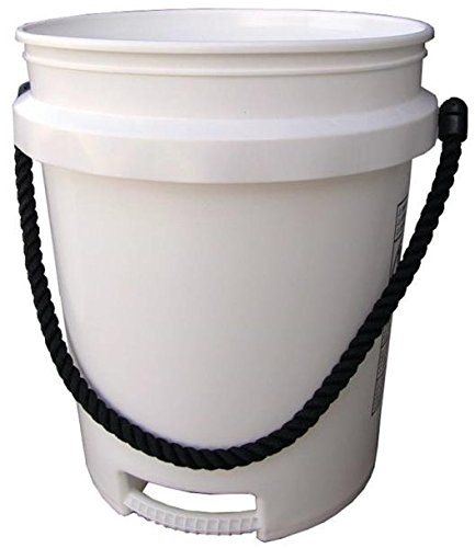 Pail 5gal White Rope Handle (Pail Gallon 5 White)