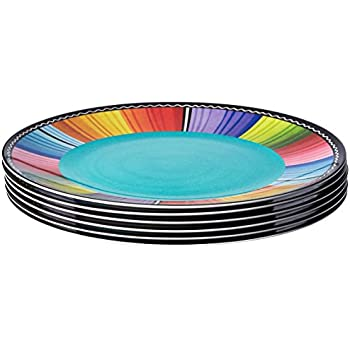 Certified International Certified Dishwasher Safe International Serape 11-inch Melamine Dinner Plate (Set of  sc 1 st  Amazon.com & Amazon.com | Certified International Serape - Melamine Dinner Plate ...