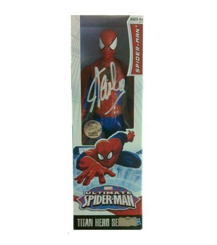 Stan Lee Autographed/Signed Ultimate Spider-Man Classic Series Action Figure Box