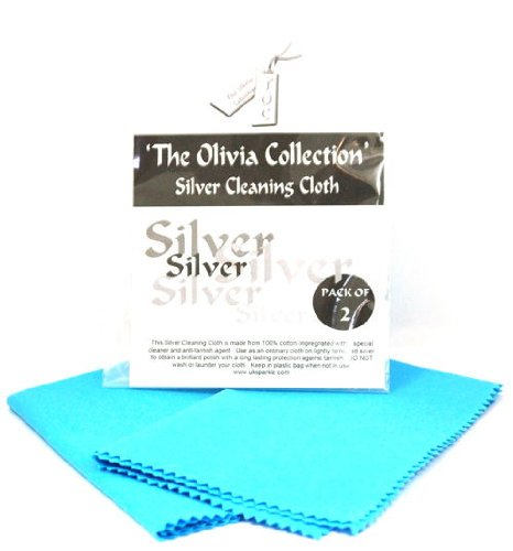 TOC Gold Silver Jewellery Cleaning & Polishing Cloths Silver X 2]