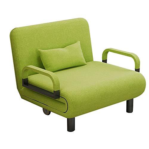 GaoXu Verde 2 En 1 Sofá Cama, Silla Plegable Plegable del Lecho del Sofá Plegable del Sofá, Conveniente para La Oficina De La Sala De Estar del Dormitorio (Color : Single Sofa)
