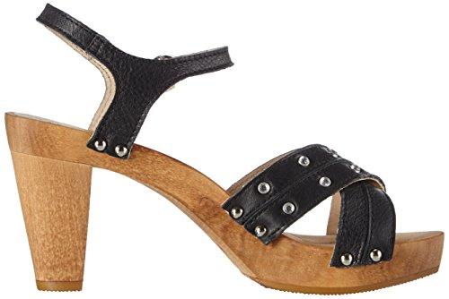 Sanita Penny Plateau Sandal - Sandalias con plataforma Mujer Negro - Schwarz (Black 2)