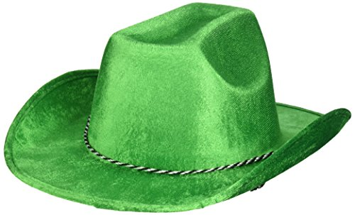 Green Velour Cowboy Hat, Party Accessory, 6 Ct.]()