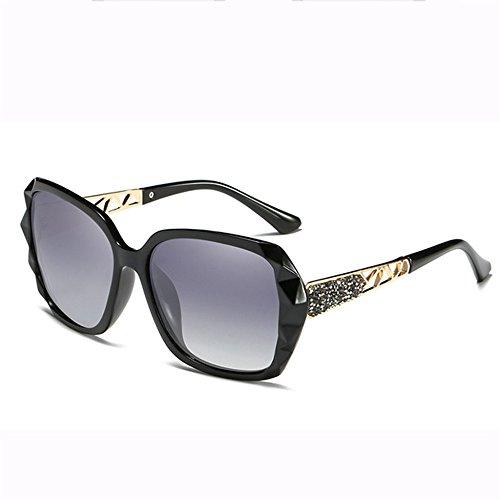 Gafas Película Gafas Protección Protector De Sol Black Grandes Sol Gafas Color Cegamiento De Marco Casual Blue Las Metal GUOHONGCX Ciclismo De De Señoras Polarizadas De RScvIOO