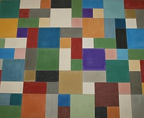 M² colorato cemento piastrelle orientale piastrelle einfarbige
