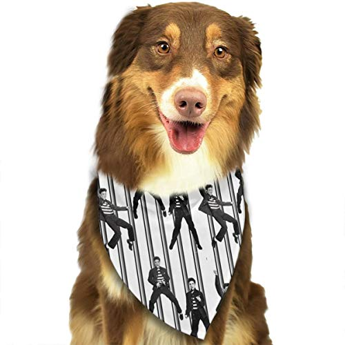FortniteCOM Dog Bandana Elvis Prison Rock Triangle Bibs Scarf Printing Kerchief Set Accessories Dogs Cats -