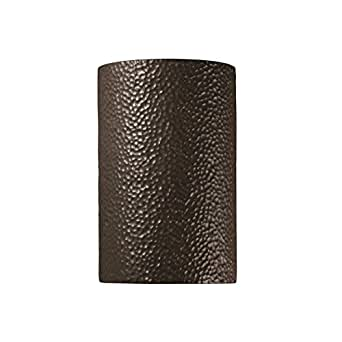 Justice Design Group Ambiance Iron Outdoor Large Cylinder Wall Sconce
