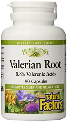 Natural Factors Valerian Root Extract 300mg Capsules, 90-Count