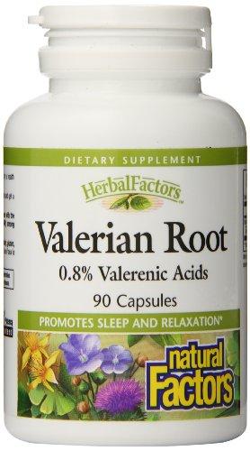 Natural Factors racine de valériane Extrait capsules de 300mg, 90-Count