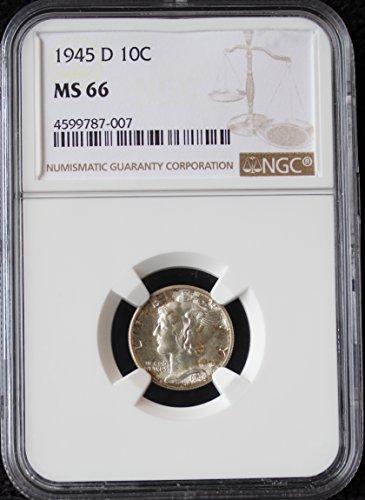 1945 D Mercury Dime 10c MS-66 - Ngc Dimes