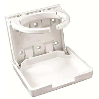 JR Products 45624 White Adjustable Cup Holder: Automotive