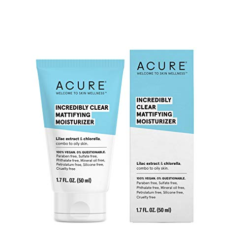 ACURE Incredibly Clear Mattifying Moisturizer, 1.7 Fl. Oz. (Packaging May Vary)