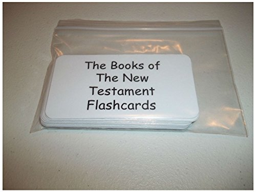 Unbranded 27 Books of the New Testament laminated Bible flashcards Christian Educational