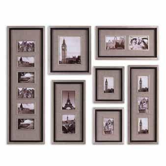 Uttermost 14458 Massena Photo Collage, Set of 7, Rustic