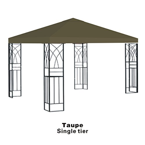 Strong Camel Replacement 10'X10' Gazebo Canopy top Patio Cover Sunshade plyester Single Tier -Taupe