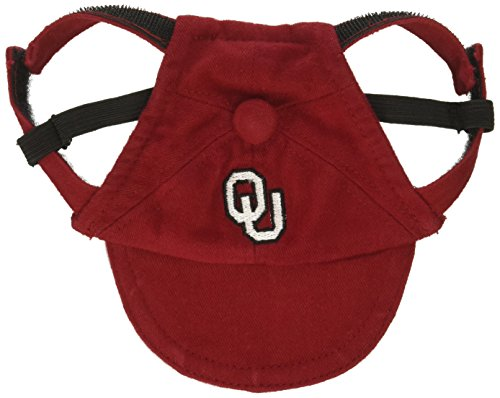 Oklahoma Dog Pet Football Jersey (Sporty K9 Collegiate Oklahoma Sooners Dog Cap, Small)