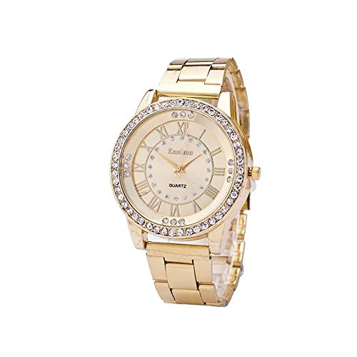 Womens Diamonds Watch 20 (Hot Sale! Charberry Mens Diamond Gold Watch Crystal Rhinestone Stainless Steel Analog Quartz Wrist Watch (Golden))