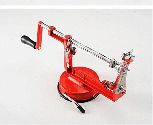 Maxture New 3in Steel Fruit Potato Apple Machine Peeler Corer Slinky Slicer Cutter Bar Home