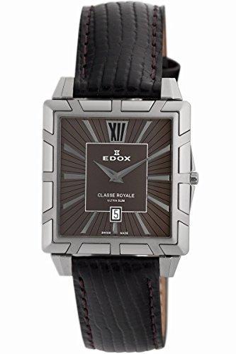 Edox Women's 26022 3 BRIN Classe Royale Rectangular Date Watch