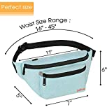 Fanny Packs for Men Women - Waist Bag Packs - Large Capacity Belt Bag for Travel Sports Running Hiking Large, Mint Green