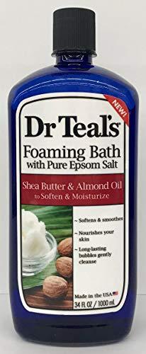 Shea Butter Foaming Bath - Dr Teal's Shea Butter & Almond Foaming Bath Epsom Salt, 34 fl.oz.