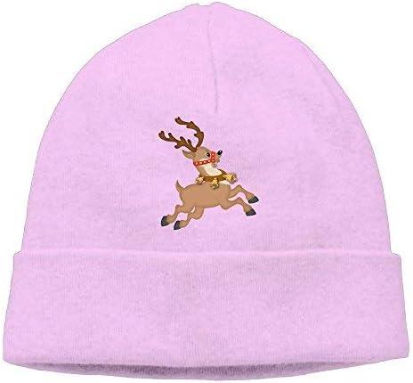 Go Ahead boy Unisex Running Elk Classic Fashion Daily Beanie Hat Skull Cap