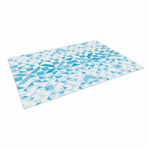 Nara 4 Light - Kess InHouse Vasare NAR Light Blue Geometric Digital Blue Outdoor Floor Mat, 4' x 5'