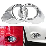Car Repair Equipments - 2pcs Chrome Front Fog Light Lamp Cover Bezels Trims For Ford Focus 2012-2014 - Chrome Light Trims