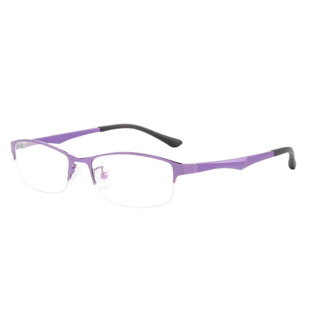 Xinvision Damen Herren Kurzsichtig Gläser, Metall Hälfte Rahmen TR90 Geschäft Kurzsicht Entfernung Brille Kurzsichtigkeit Myopia Brillen -1.00~-6.00 mit Brille Box (Diese sind nicht Lesen Brille)