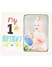 DEMDACO My 1st Birthday 8 x 7 Ceramic with Metal Accents Picture Frame