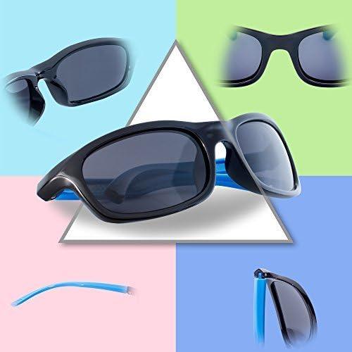 RIVBOS Rubber Kids Polarized Sunglasses for Boys Girls and Children Age 3-10 RBK023
