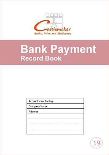 Bank Payment Record Book (A4) - Castlemaker Account Book B019