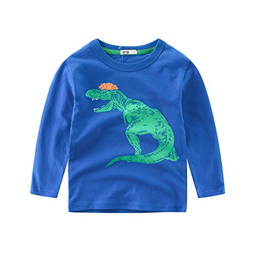 LINGGO Kids' Boys Pure Cotton Spring Autumn Dinosaur Bottoming Long Sleeve Comfortable Breathe T-shirt