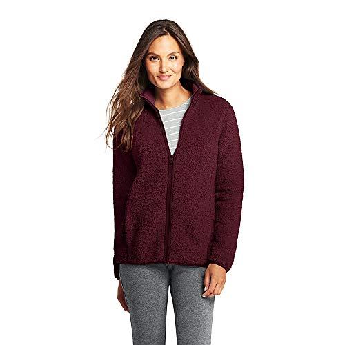 Lands End Womens Cozy Sherpa Fleece Jacket