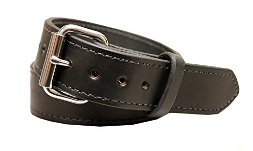 Exos Gun Belt, English Bridle Leather, 14 Ounce - Stainless Steel Hardware - Handmade in The USA (44 - for 40