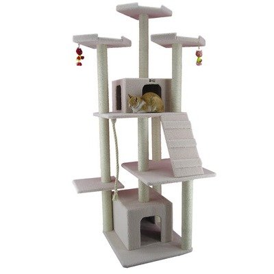 82″ Classic Cat Tree in Ivory, My Pet Supplies