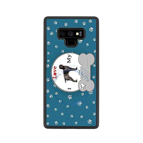 (BRGiftShop Personalize Your Own I Love My Dog German Shorthaired Pointer Rubber Phone Case For Samsung Galaxy Note 9)