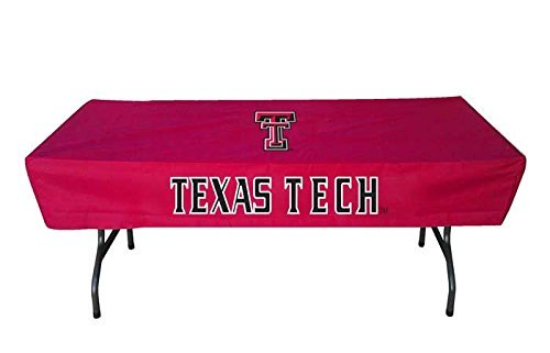 TEXAS TECH RED RAIDERS NCAA ULTIMATE 6 FOOT TABLE COVER by Rivalry Distributing by Rivalry Distributing